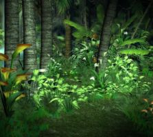 Jungle Floor Background by Lil-Mz