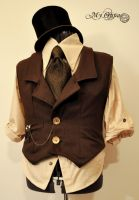 steampunk costume for man by myoppa-creation