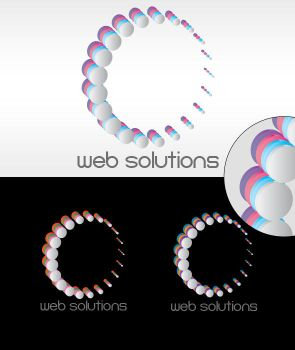 Web Solutions Logo by dimplegal