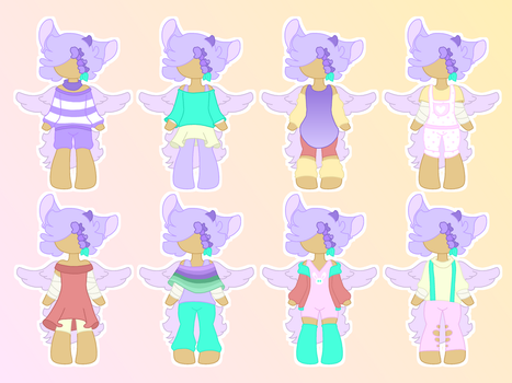 Sweet Pea Outfit list by Coco-Glow