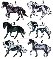 20 point horse adopts [0/6] -CLOSED- by TheAdoptArtist