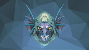Slark Dota 2 Low Poly Art by giftmones