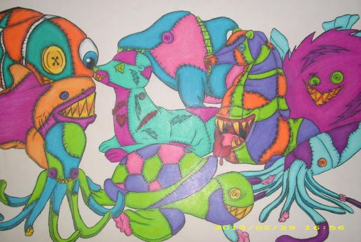Twisted Fishies by xxxmidnightsummerxx