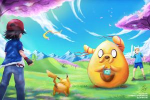 Pokemon Meets Adventure Time by LaurenceAndrewPage