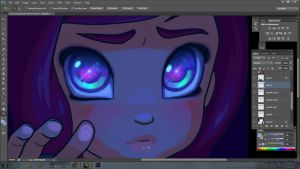 All in her eyes W.I.P by DestinyBlue
