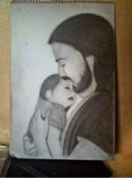 2013 drawing - Our Loving Father :) by nielopena