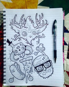 went to a cottagr and drew this over the weekend by nappydread