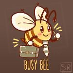 Busy Bee - Bee Pun design by SarahRichford