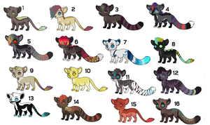 Name your Price Adoptables -April by Sacredfire200