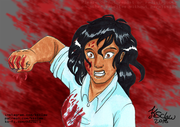 Thes gore prompt 3 - Bloodied knuckles by ks-claw