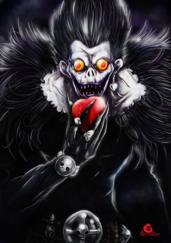 Ryuk Death note + Speed Painting by ArtAG95
