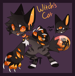 Witch's Cat BubbleBaby Auction [CLOSED] by Sweet-n-treat