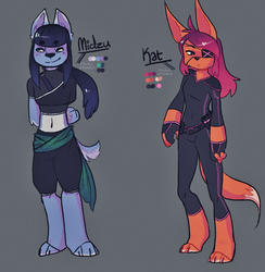 Webcomic Character concepts by MonCherryHead