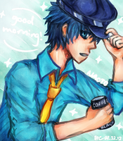 rise and shine detective boy by Rawrphlosion