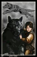 Rickon Stark and Shaggydog by Amok by Xtreme1992