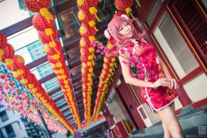 Love Live! Chinese dress: Maki - Flowers by ruby-hearts