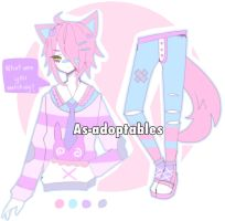 menhera NEKO ADOPTABLE CLOSED by AS-Adoptables