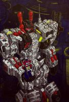 Metroplex and Prime (color) by MIROSLAV-BLASTER