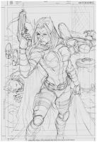 Sketch Huntress by MARCIOABREU7