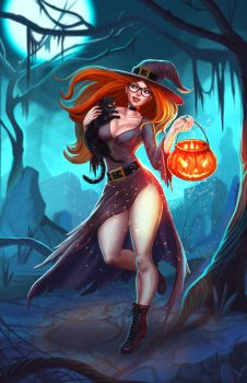 Witch, Halloween 2017 by victter-le-fou