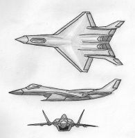 Stealth Fighter Concept by Kryptid