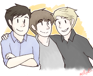 three great dudes by LadyxOwl