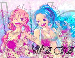 Vivi and Nami Wallpaper by oOMaki997Oo