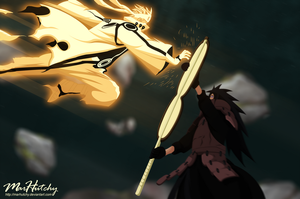Naruto 601: BM Naruto vs Madara Uchiha by MarHutchy