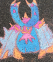 Toxapex Chalk Art