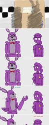 FNAF-Don-t talk- Vincent and Bonnie by miawell1990