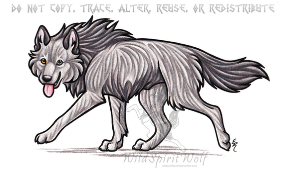 Strider Wolf Commission by WildSpiritWolf