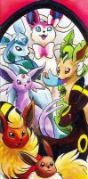 Bookmark Commission: Eeveelutions by Avanii
