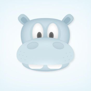 Hippo face in Illustrator by VforVectors
