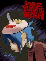 2D Plastic Beach by captinsteampunk
