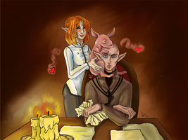 Solas be patient, be patient. by zoiocen