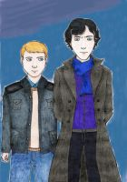 Sherlock and John by MushiAkki