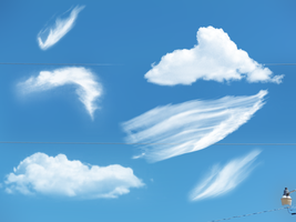 Gimp Cloud Brush Pack by darkdissolution
