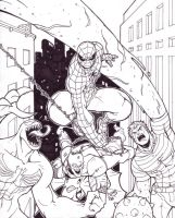 Spidey and Villains 06 inked by LucasAckerman