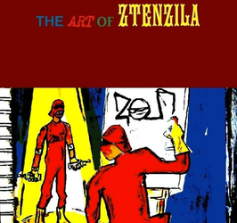 the art of ztenzila book cover by ztenzila