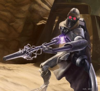 Star Wars Destiny: Electrostaff by Thaldir