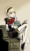 Aigis Takes A Breather by theintrovert
