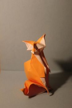 Origami Fox by nekomancer123