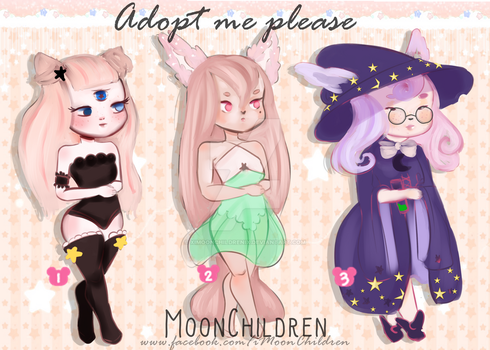 CLOSED adoptables by xIMoonChildrenIx