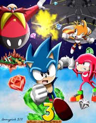Sonic the Hedgehog 3 by Aamypink
