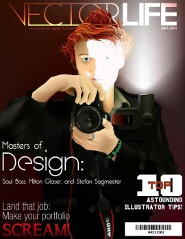 Self Portrait Magazine Cover by JJFryGraphicARTS