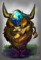 Commission Blue haired Highland Cow by Mad--Munchkin