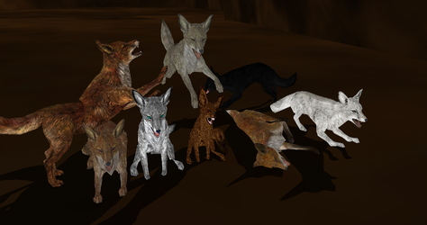 MMD Newcomer Skyrim Foxes Pack by Valforwing