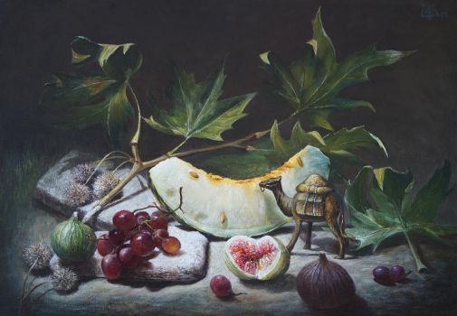 Fruits and camel by marcheba