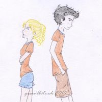 Annabeth and Percy by Grouillote-oh
