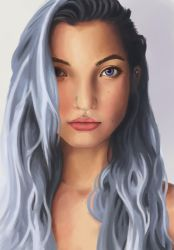 Female Face Study 01 by markuro